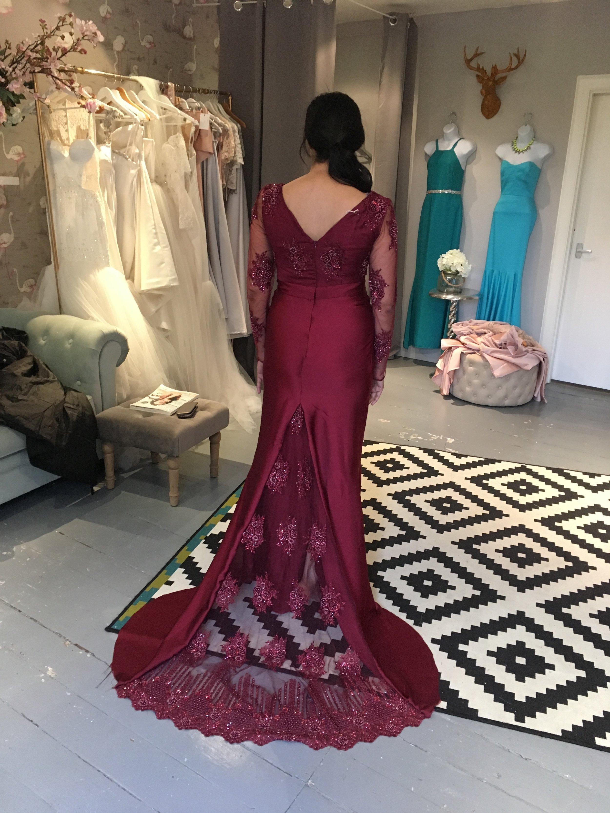 burgandy bridesmaid.JPG