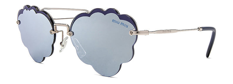 MIU MIU CLOUD OVAL SUNGLASSES