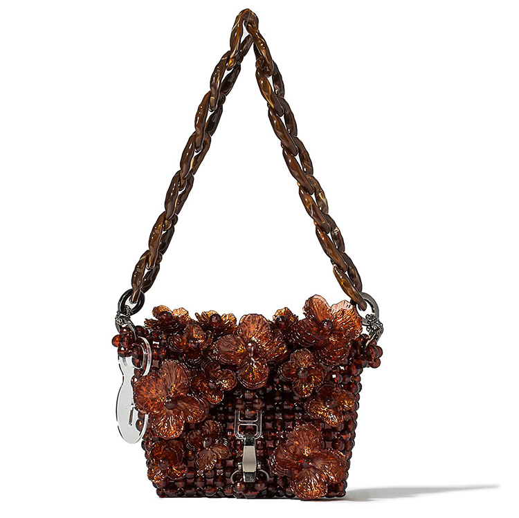 TAM ILLI BROWN JARDIN BEADED BAGUETTE