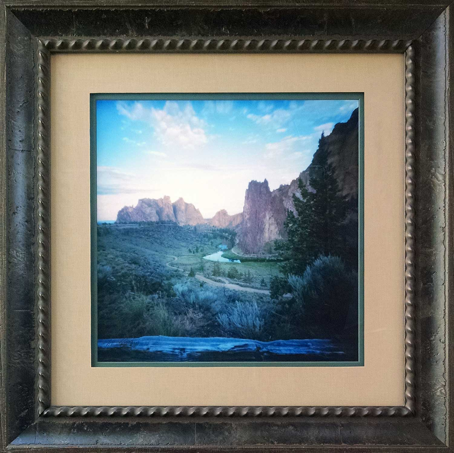 """Boundary""  -  Smith Rock State Park , Terrebonne Oregon. Pinhole Photography by  obscura GRAPHICS , Custom Framed by  High Desert Frameworks!"