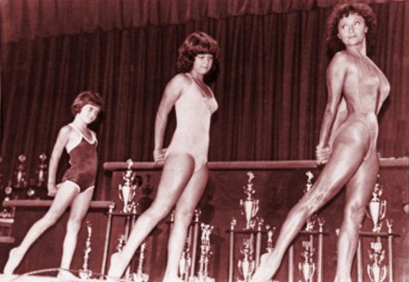 Doris barrilleaux and granddaughters guest posing in 1980