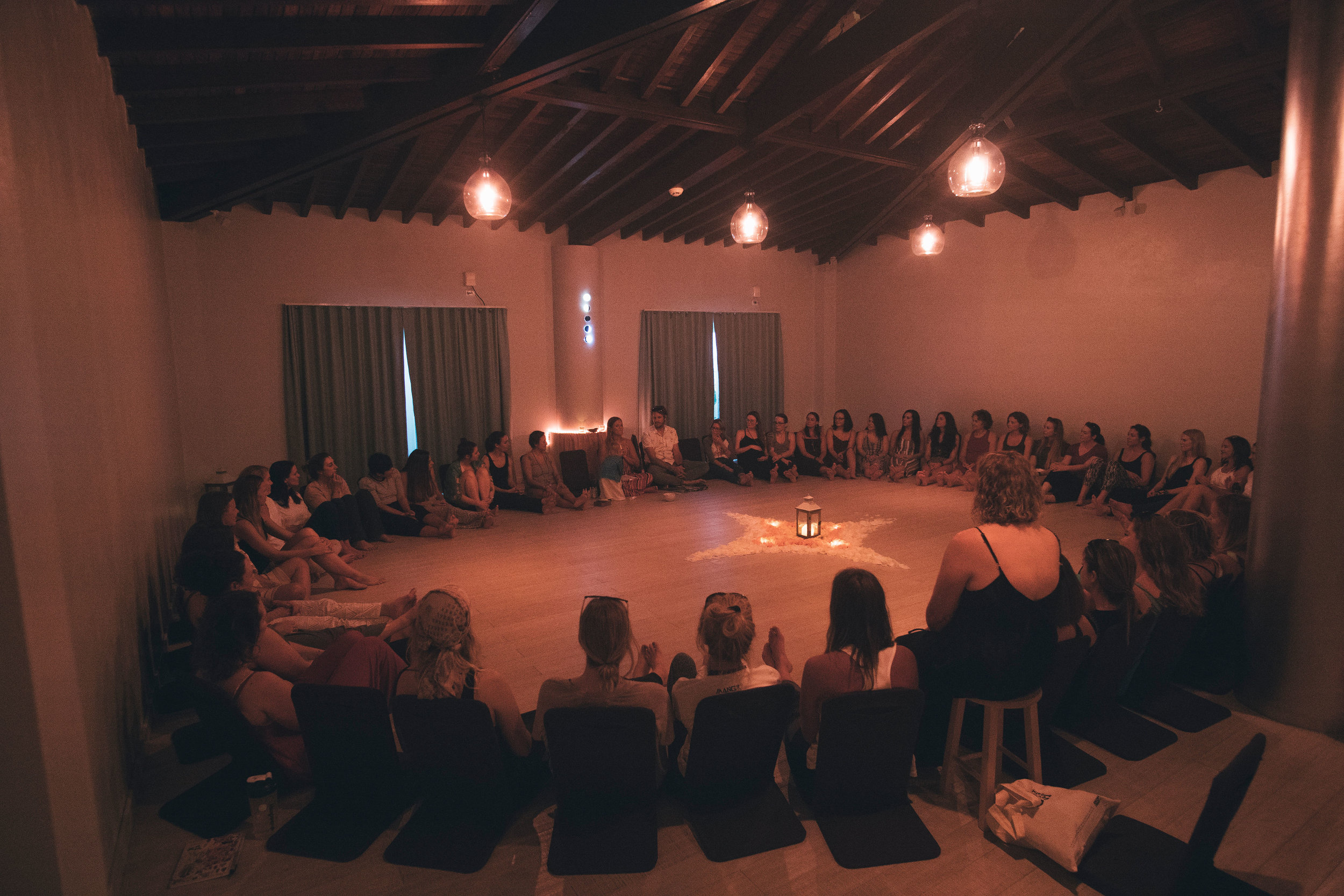 Opening Circle in the Luna Shala