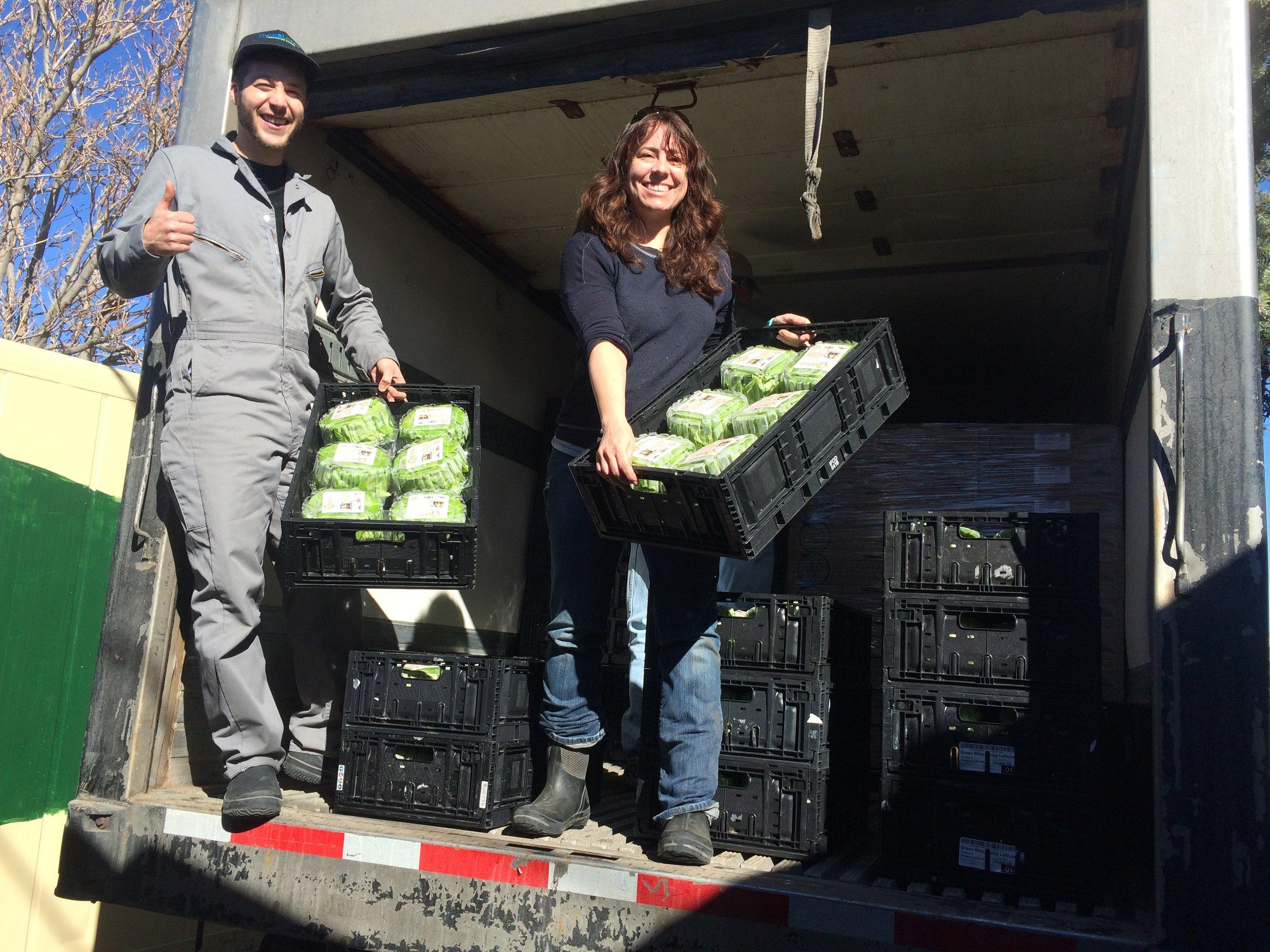 Farmer Tyler & Shannon Harker at The GrowHaus in Denver, CO.