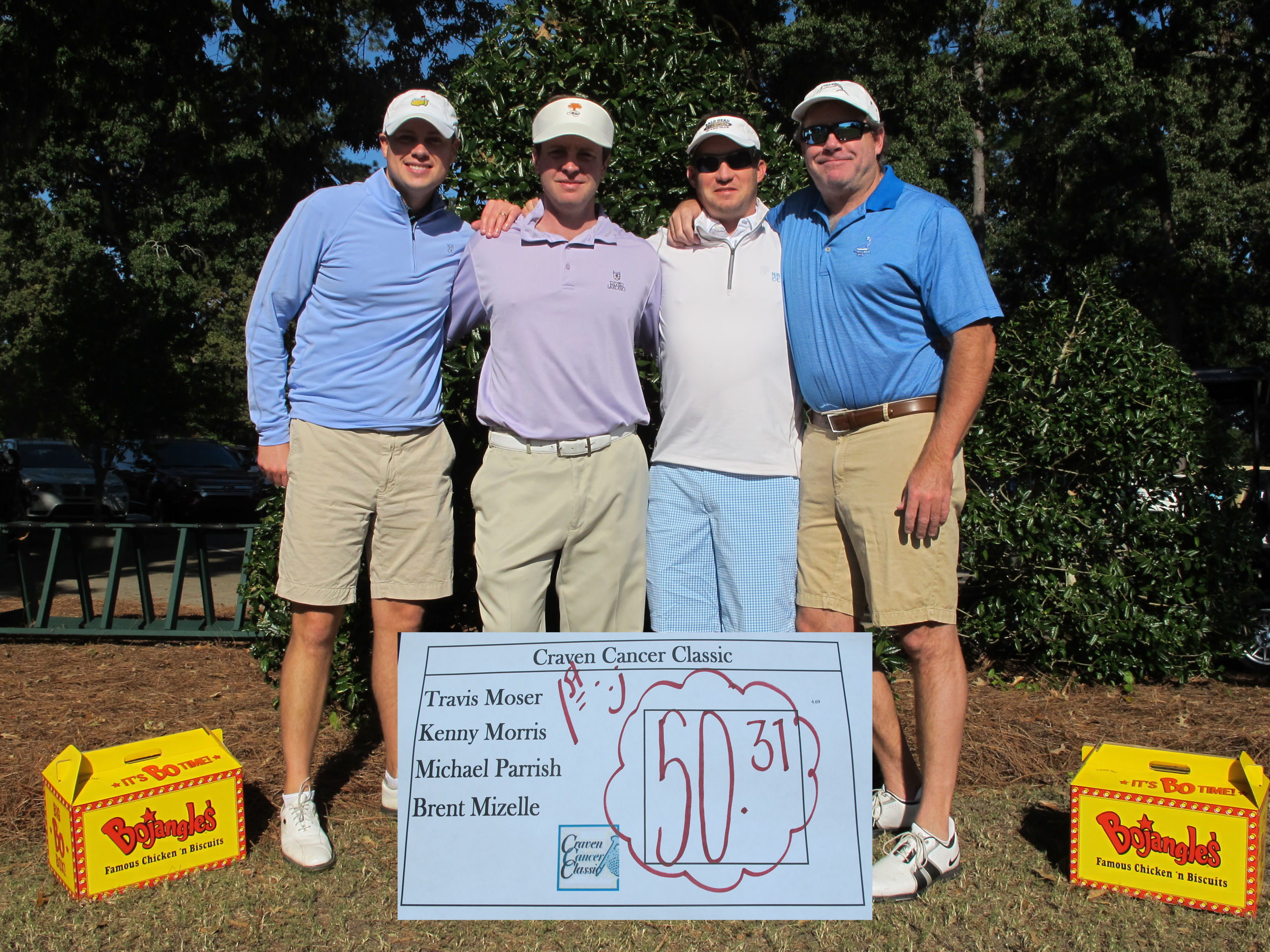 2016 Overall champions  -left to right - Michael Parrish, Travis Moser,Brent Mizelle,Kenny Morris