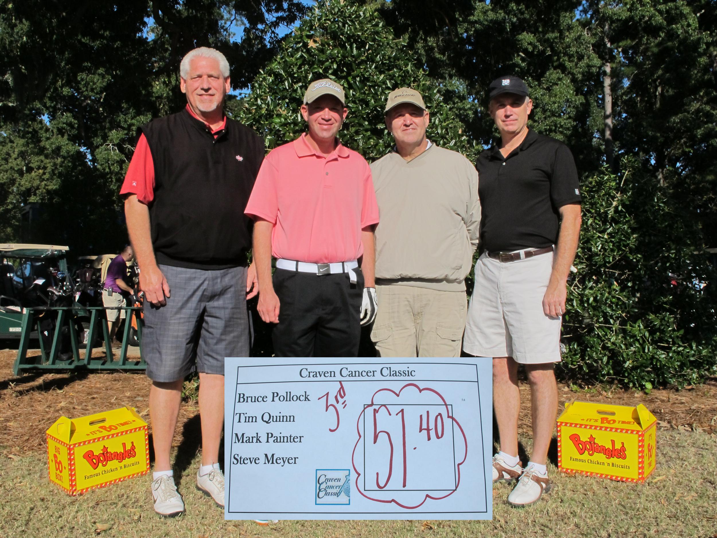 OVERAll 3rd place  - left to right -Mark Painter,Steve Meyer, Tim Quinn,Bruce Pollock