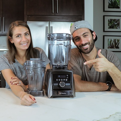 We love the Vitamix blender. But Lenny and Shalva Gale from @lifeisnoyoke realy, really, love the @vitamix! Our current episode is an interview we did with them and we managed to cover #plantbaseddiet, powering your #health and the importance of following your #passion when it shows up in the form of a blender! (Link in bio). We talk about #smoothies, #salads, vegan queso, and tons of other ways to use that expensive machine sitting on your counter. Did you know you can chop salad in the Vitamix?! Even if you don't own a Vitamix, they teach you how you can use a regular blender to power your health. How about cashews and red pepper turning into something cheesy? Shalva and Lenny share their story about making the choice to pursue a life they love. And it shows up in the form of a high-end blender. . . . .