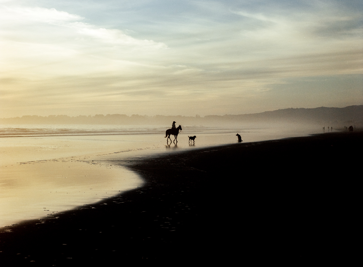 Horse Rider  , Along Route 1, CA , 2011, Pigment print