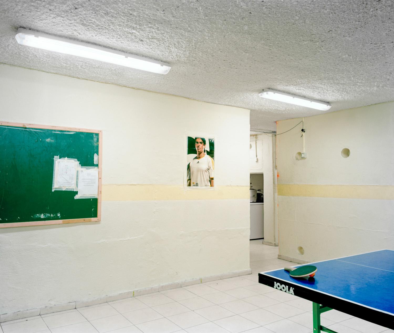 "Pink Pong, Jerusalem, 2007, Chromogenic print, 20"" x 30"""