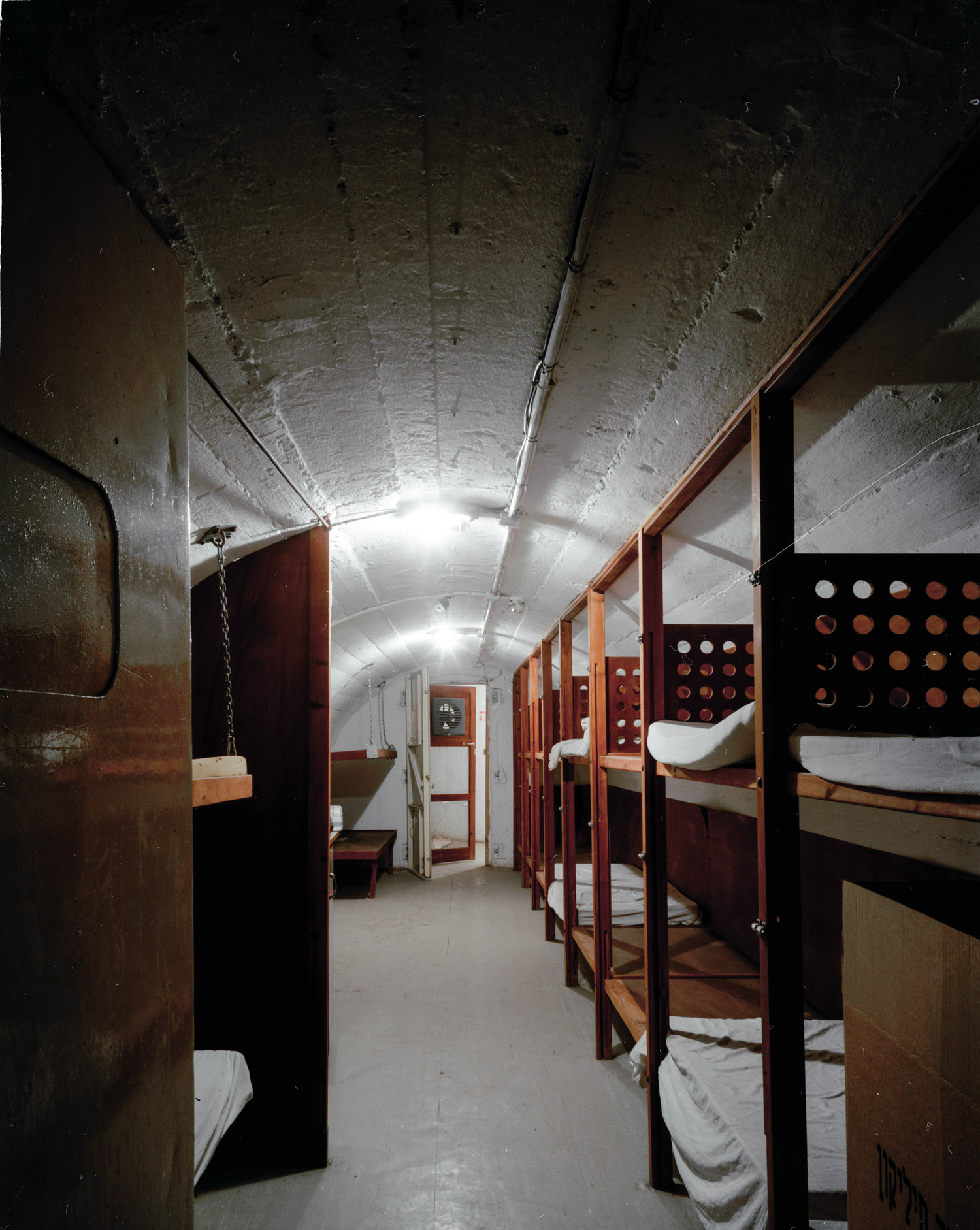 "Bunk Beds, Kibbutz Deganya Bet, Northern Israel,  2007, Chromogenic print, 30"" x 20"""