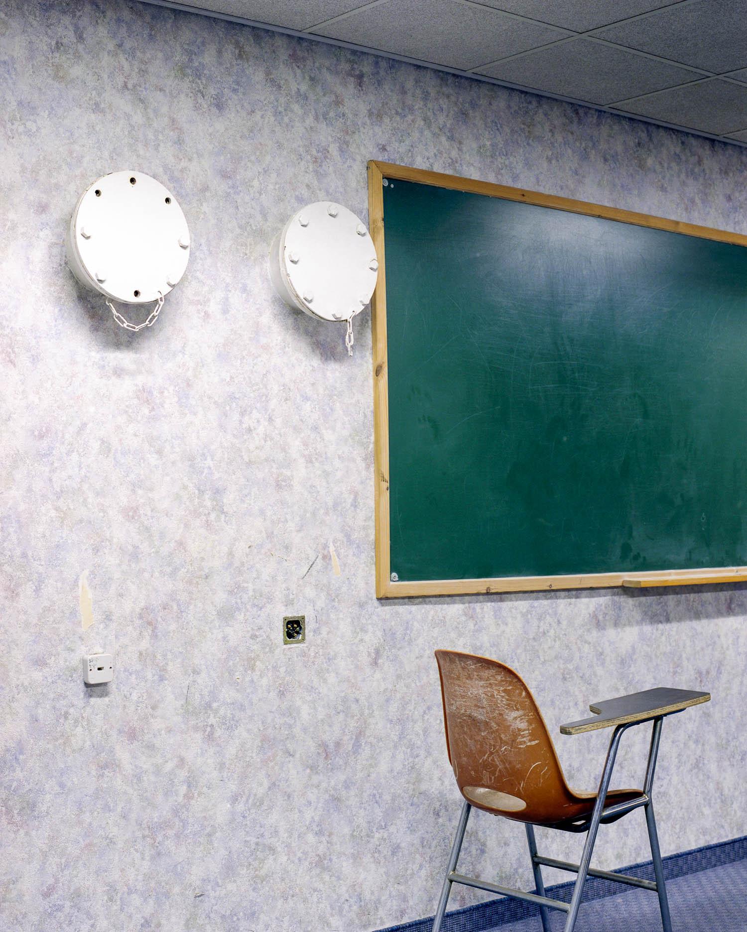 "Classroom, Hebrew University, Mount Scopus,Jerusalem, 2007, Chromogenic print, 30"" x 20"""
