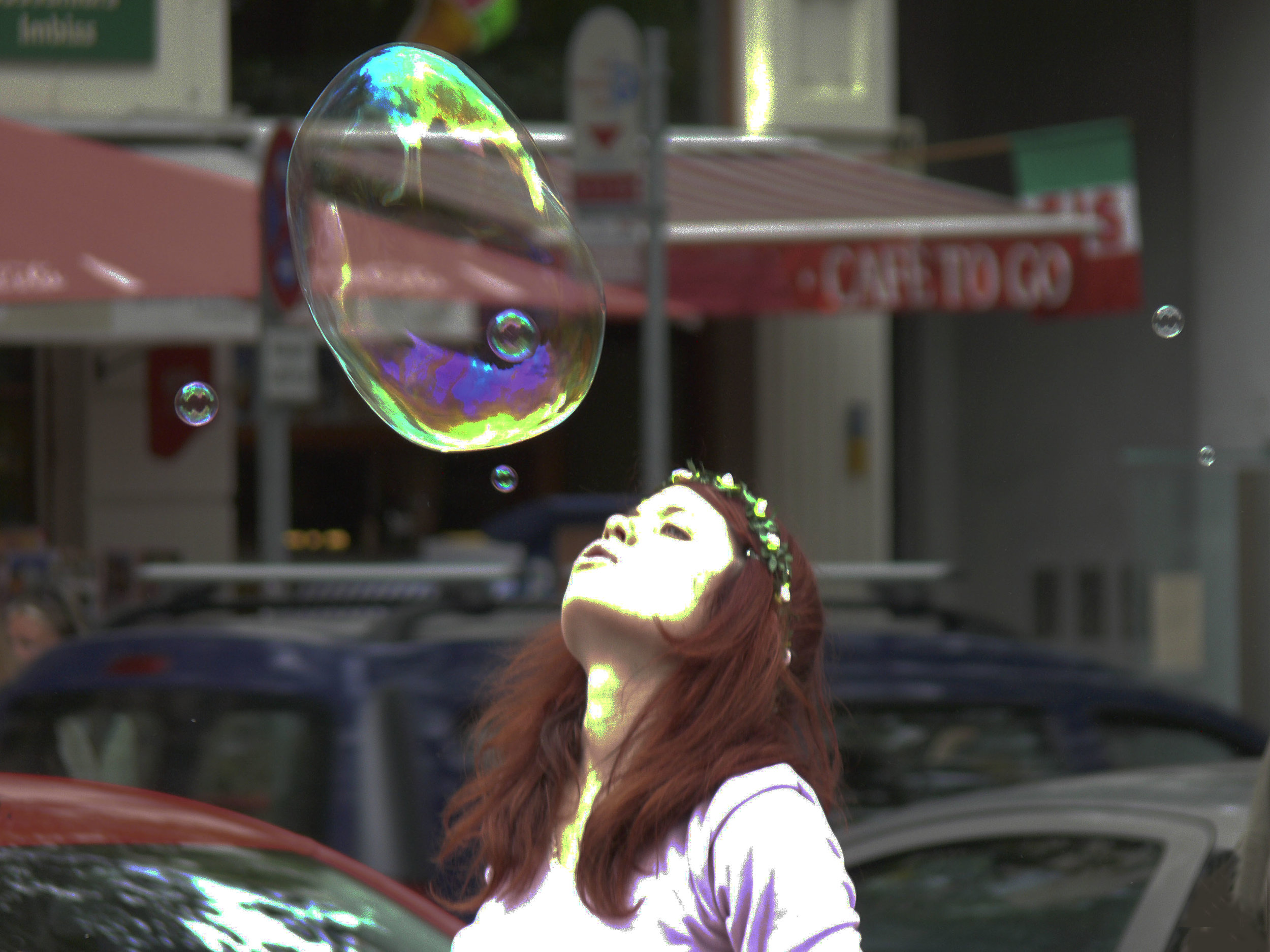 Baloon Girl 13 X 19 Digital print (larger sizes per request)  $175