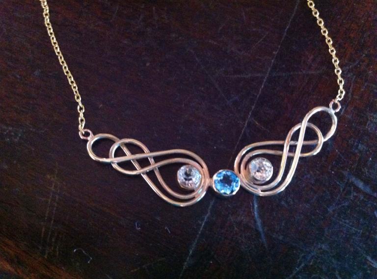 Celtic paste necklace