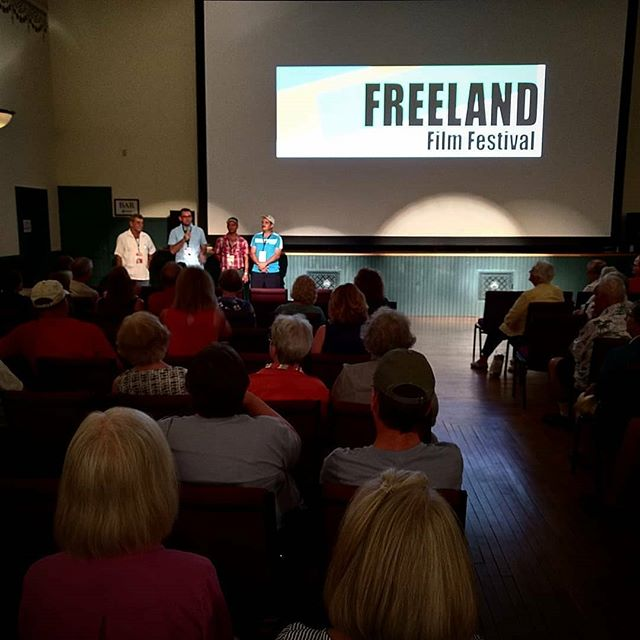 Last night's screening at the @freelandfilmfest was sold out! We've got another screening today at the Caestecker Library at 3:30pm in Green Lake, WI.  Father Wally, Andres, Nelson, and Pipo received a warm welcome from the audience and had an opportunity to address them directly.  Thank you to everyone would could make it, and thanks @fauxreal222 @thirdofseptember and @freelandfoundation for the event!  #filmfest #filmfestival #documentary #film #video #production #outreach #education #conservation #eco #panama #water #freeland