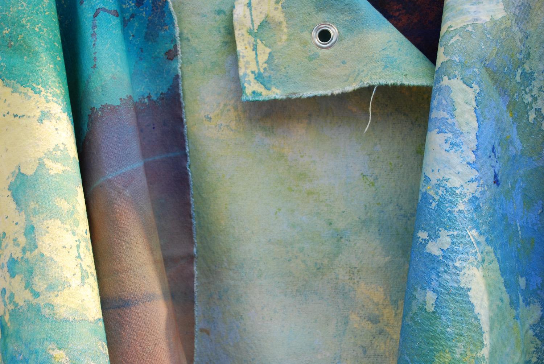 Artist Sophia Batsford Ties Work On Linen