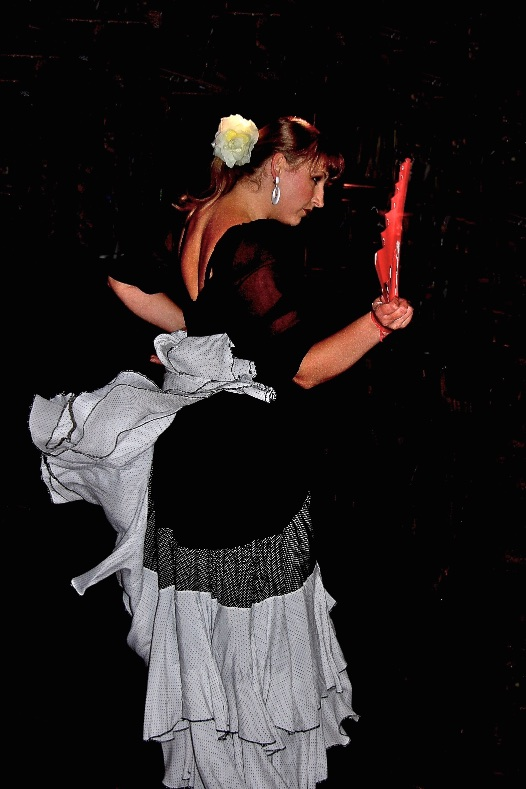 Flamenco dancer. Lodz, Poland.