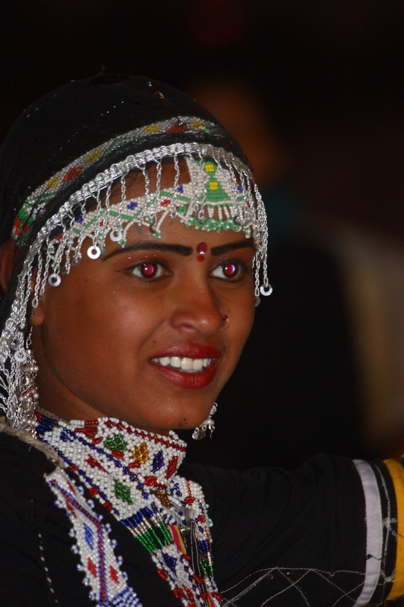 Wild-eyed dancer. Rajastahn, India.