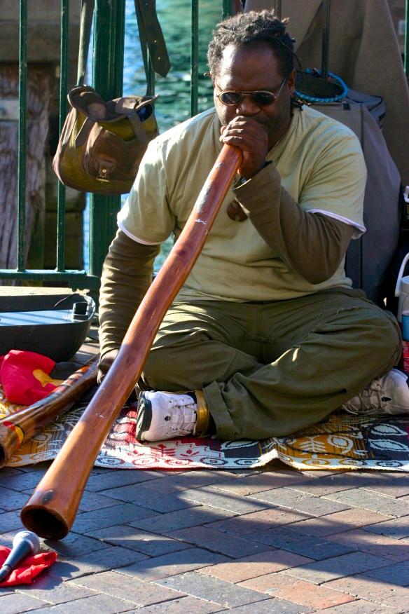 Didgeridoo virtuoso. Sydney. Australia.