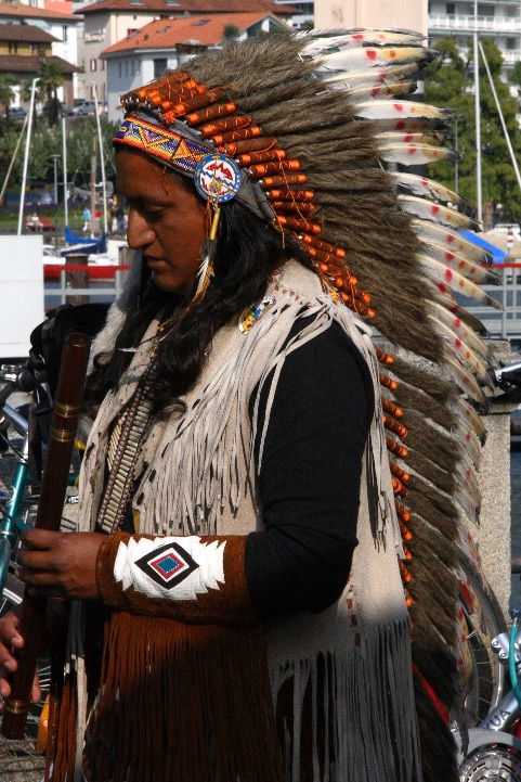 Red Indian in Europe. Locarno, Switzerland.