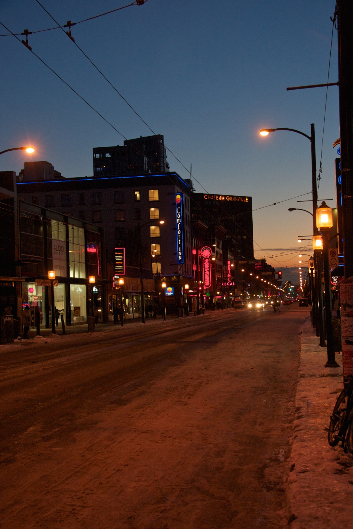 Night scene. Vancouver, Canada.