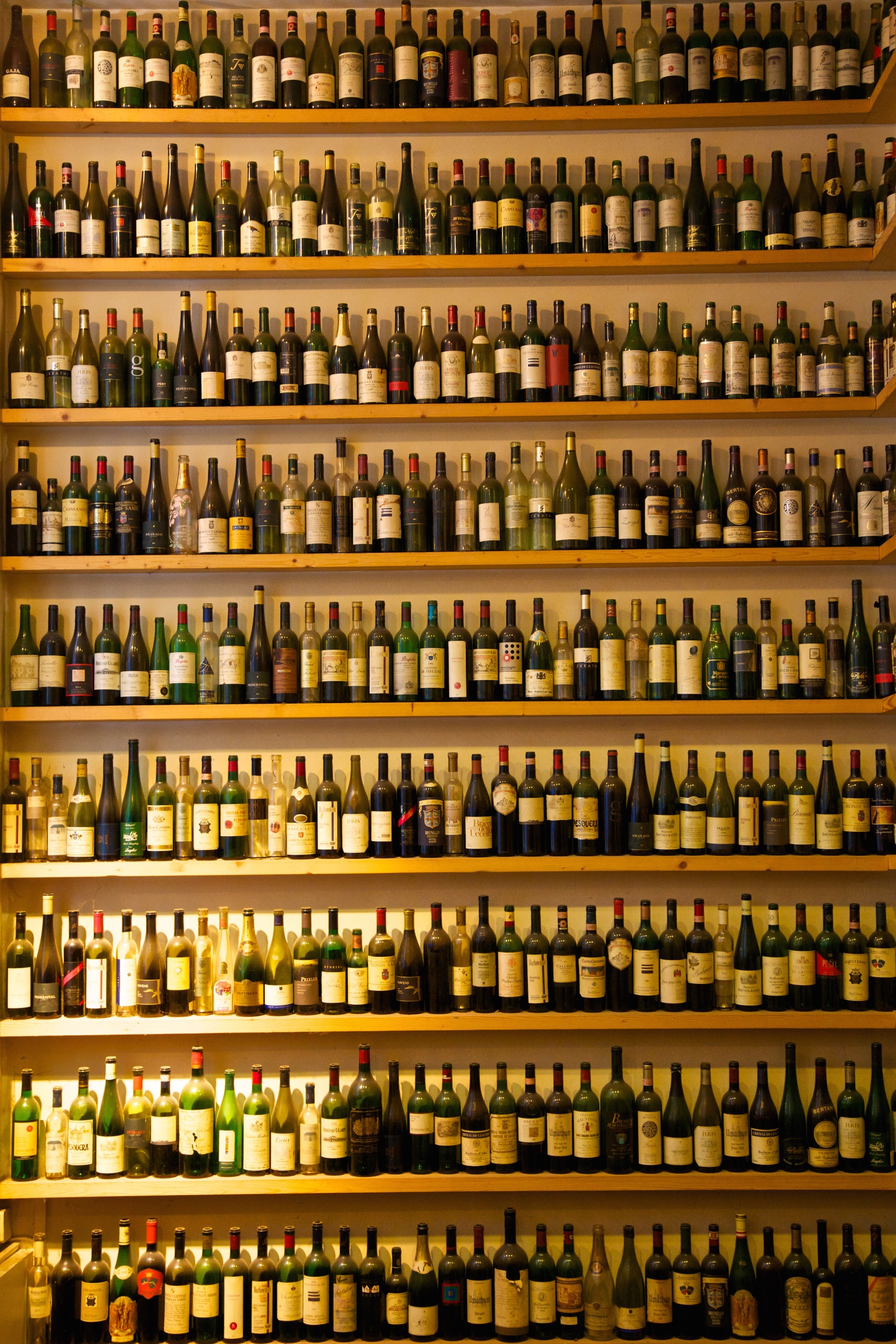 Wine bottles merely to be looked at (unless you possess a ladder).