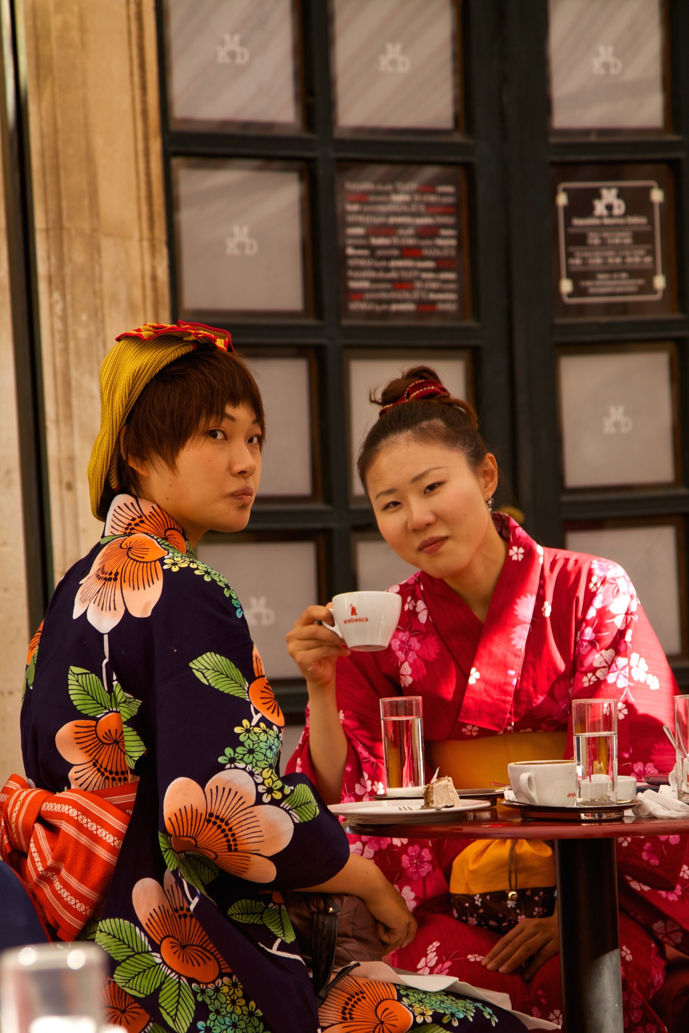 European tea ceremony for Japanese visitors. Dubrovnik, Croatia