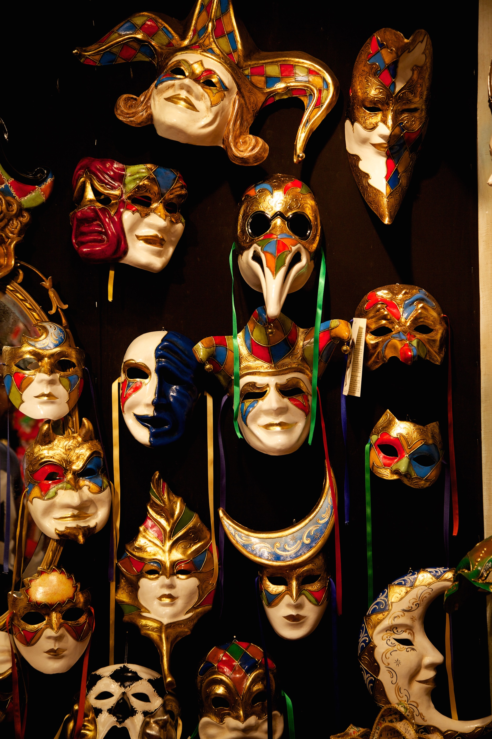 In the darkness behind the masks worn is where the truth is hiding.