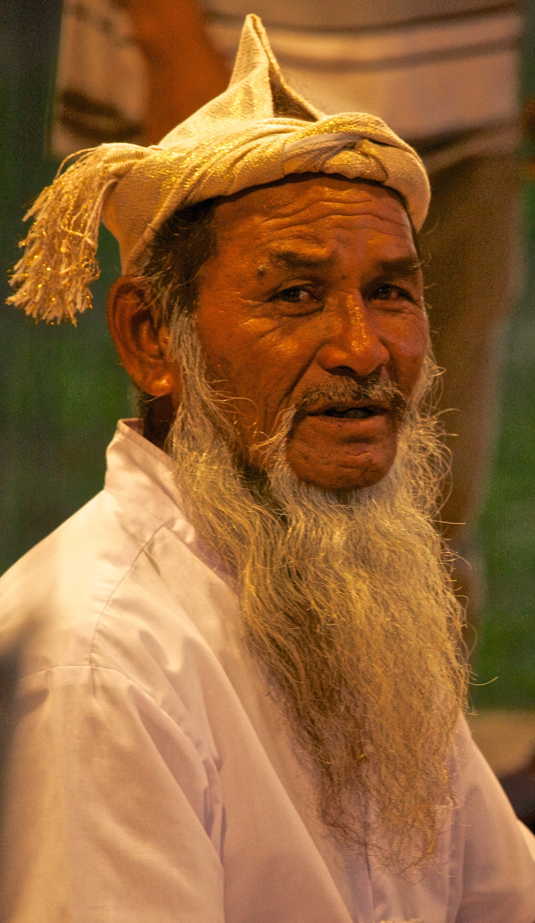 A bearded tribal elder. Hoi An, Viet Nam