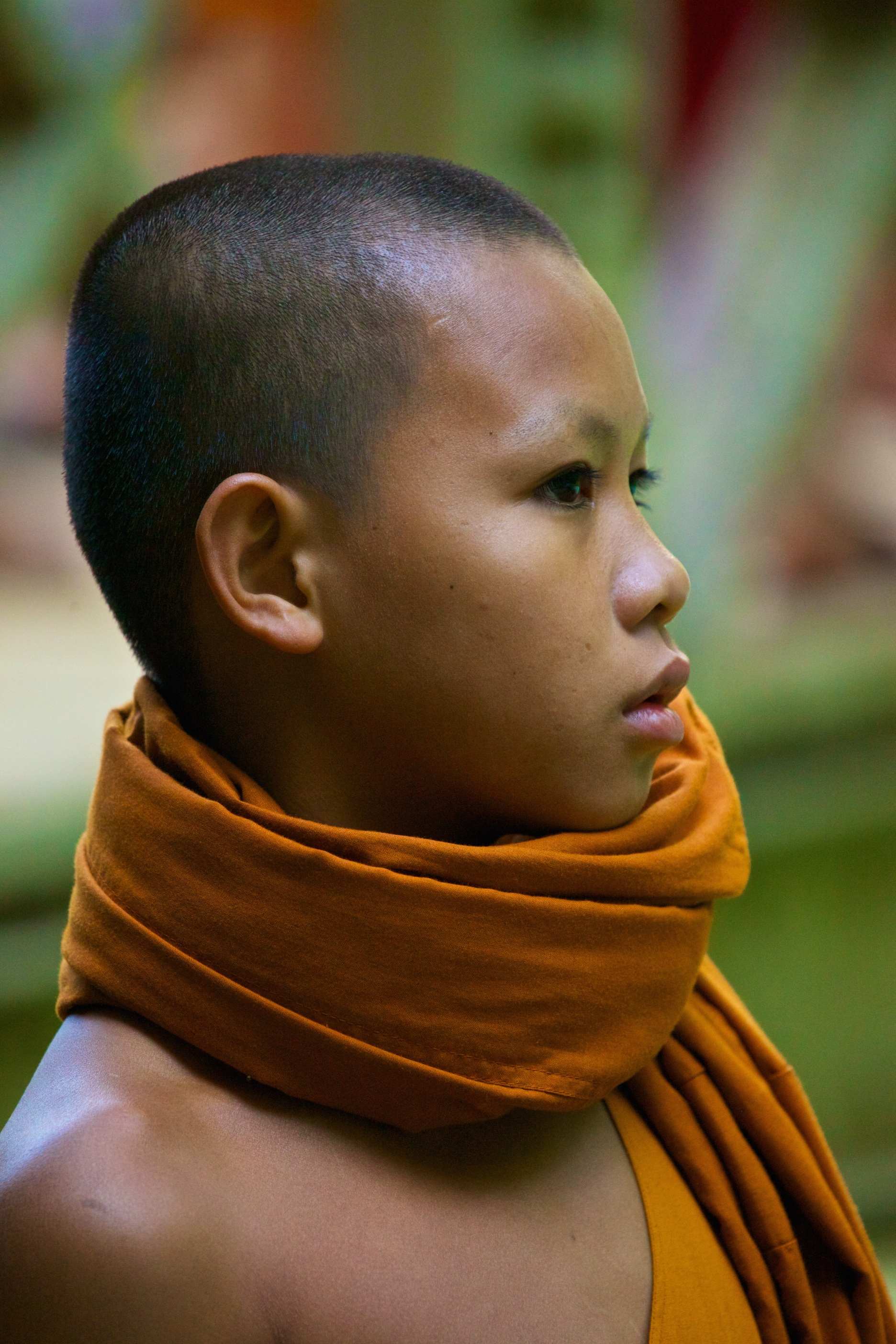 A buddhist monk novice. Laos.