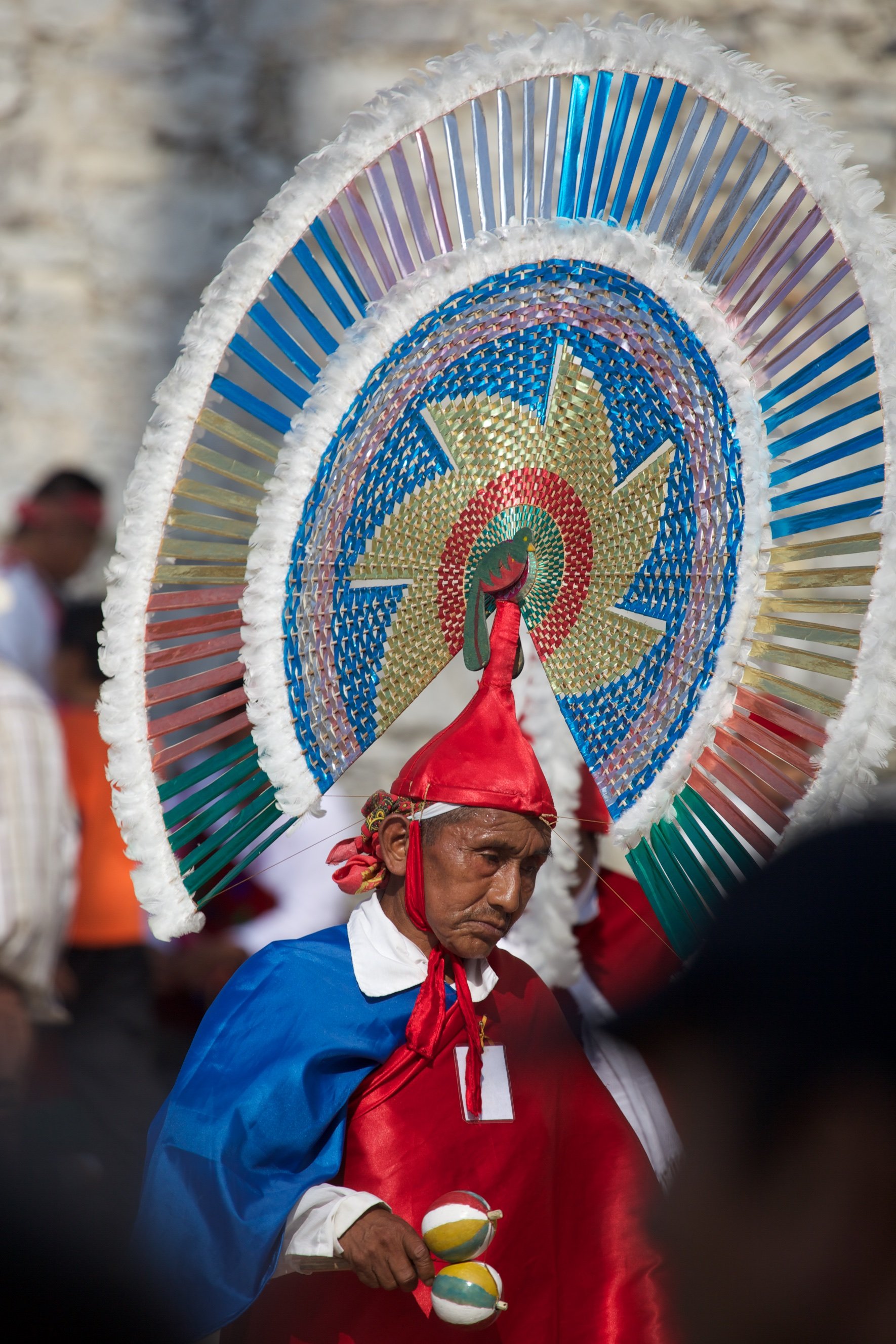 Participant of the Cuetzalan festivities, Mexico