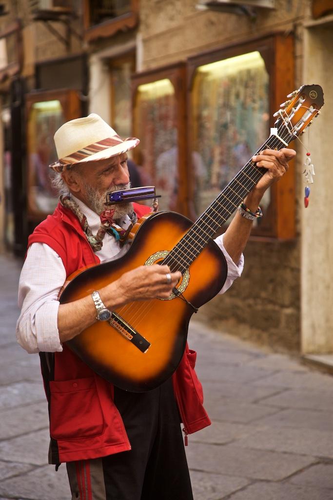 An Italian multi-instrumentalist.