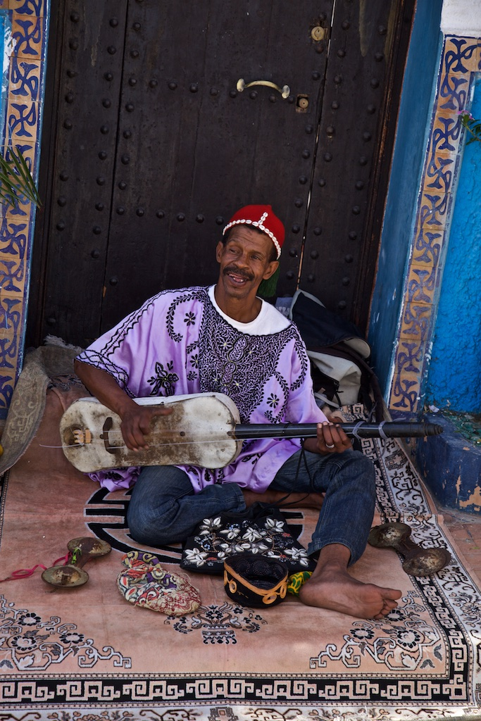 A colourful Moroccan musician.