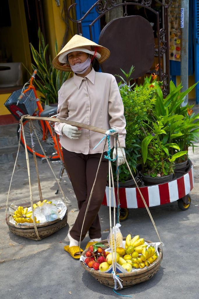 Edible balancing act. Hanoi, Viet Nam