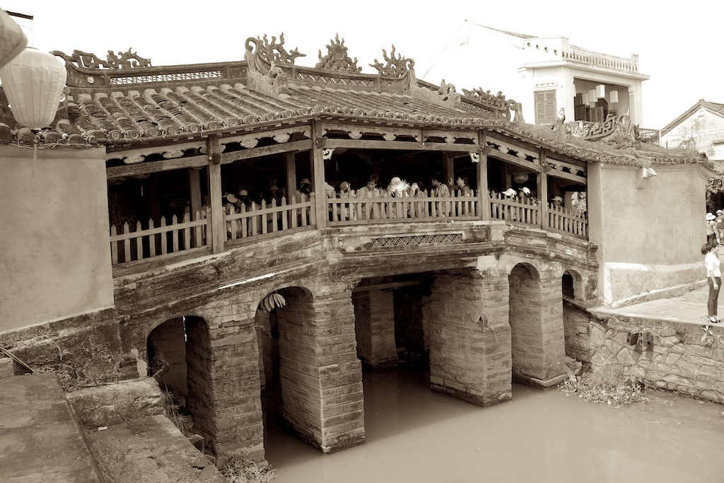 The ancient Japanese Bridge in Hoi An, Viet Nam.