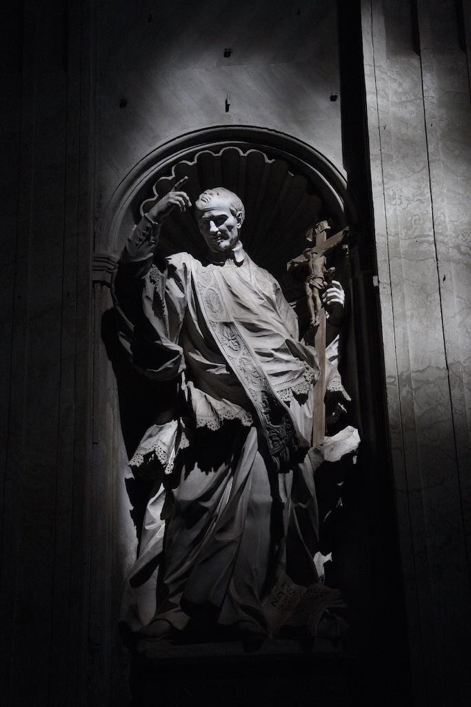 A saint celebrated in St. Peter's basilica in the Vatican.