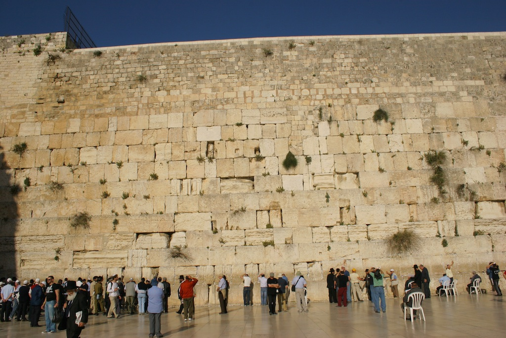 The 2000-year old Wailing Wall. Jerusalem, Israel.
