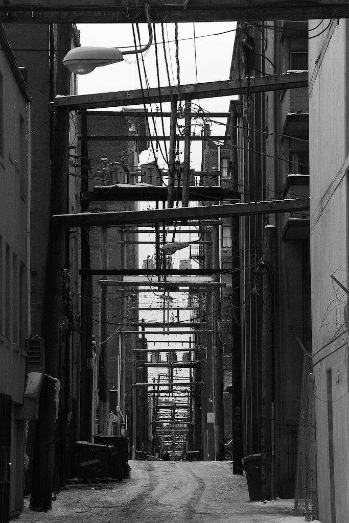 Industrial street. Vancouver, Canada.