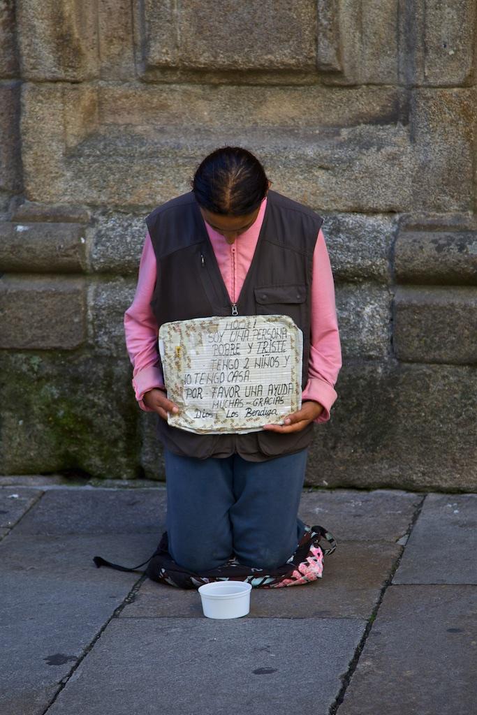 Beggar. Santiago de Compostela, Spain.