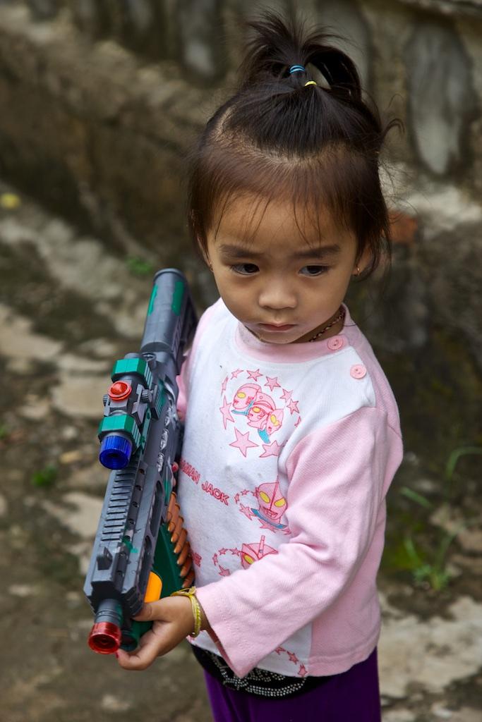 Starting young playing war games. Indochina.