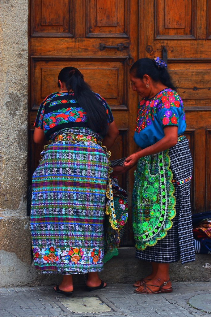 Two local ladies. Antigua, Guatemala