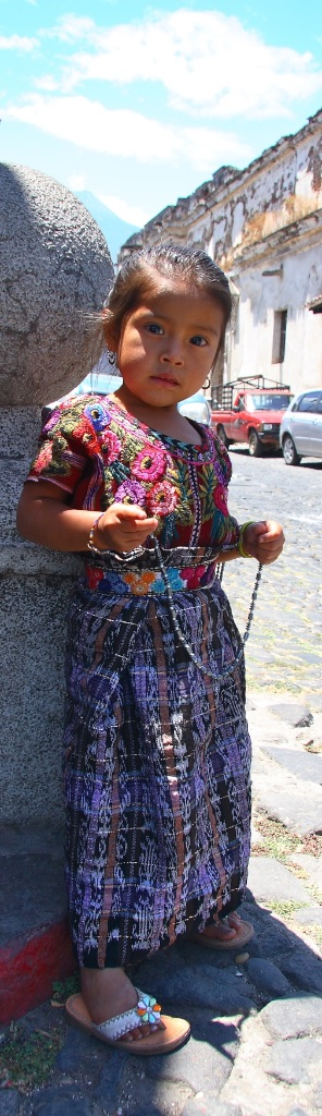 A natural-born and very persuasive merchant. Antigua, Guatemala.