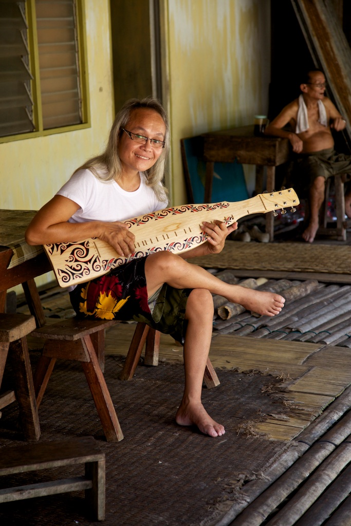 Musician. Borneo, Indonesia