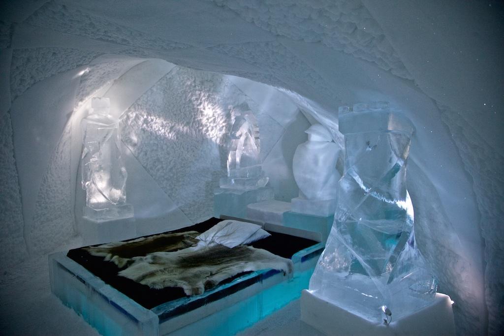 Room 21, Ice Hotel, Jukkasjärvi, Sweden.