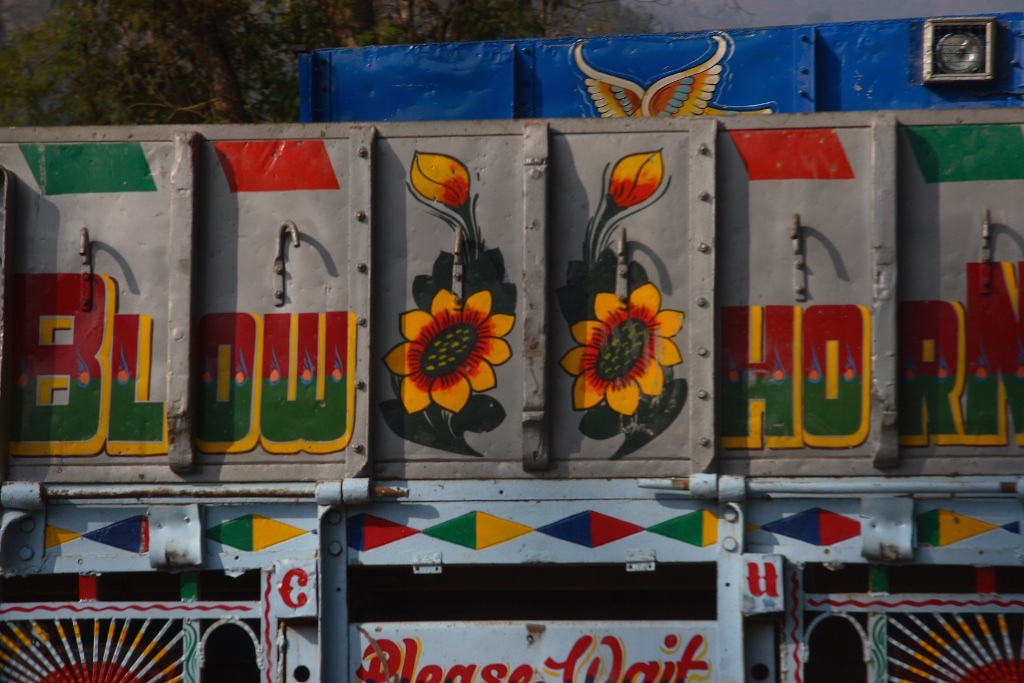 Indian drivers encourage you to honk your horn.