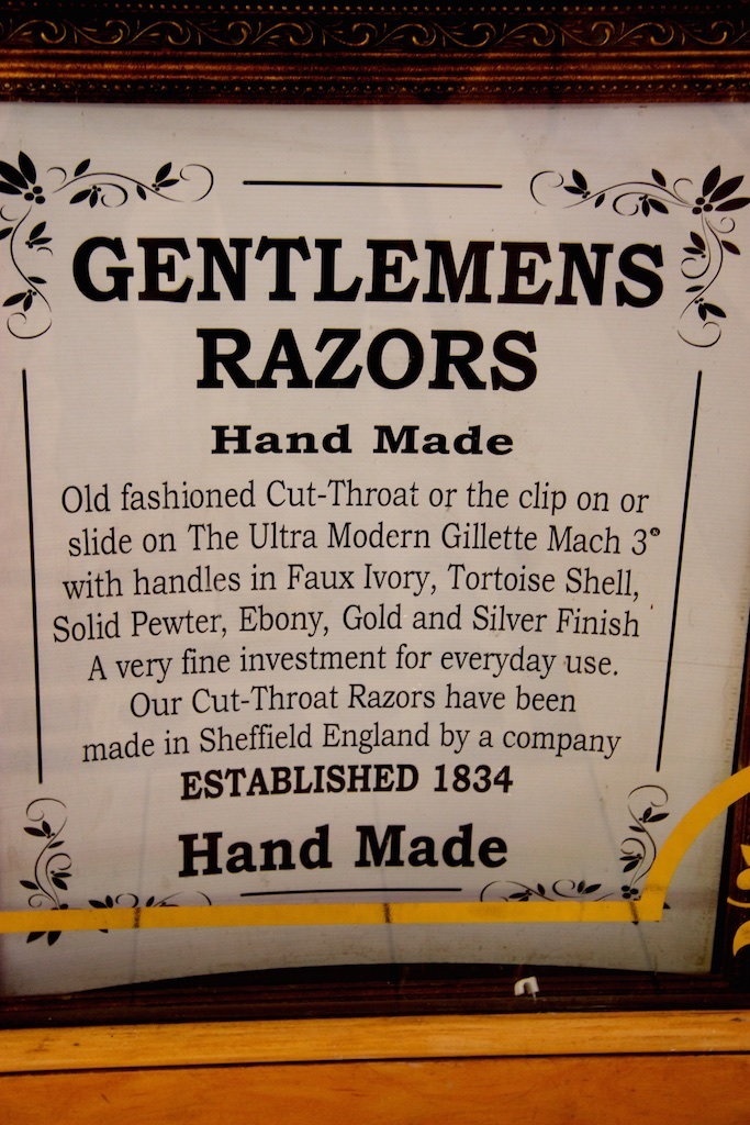 Cut-throat business advertising.