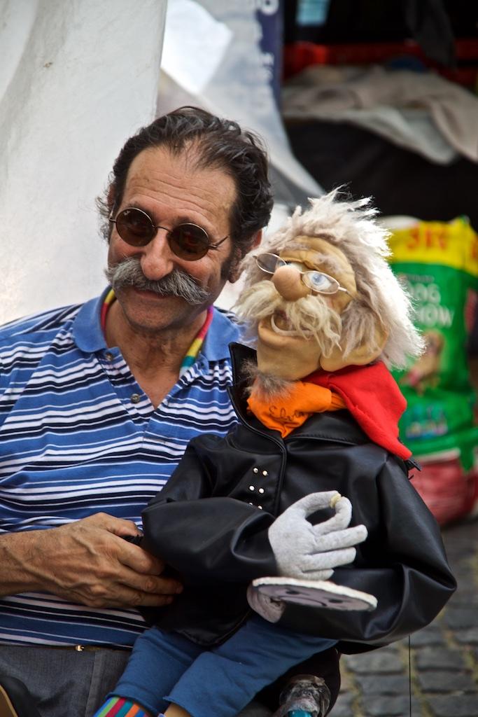 San Telmo ventriloquist. Buenos Aires, Argentina.