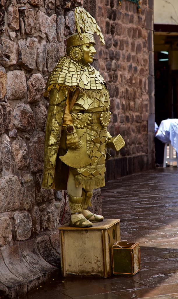 Golden emperor, Cusco, Peru.