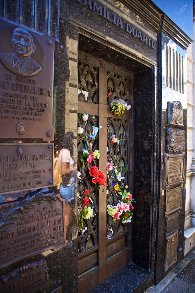 Evita Peron's mausoleum, Buenos Aires, Argentina
