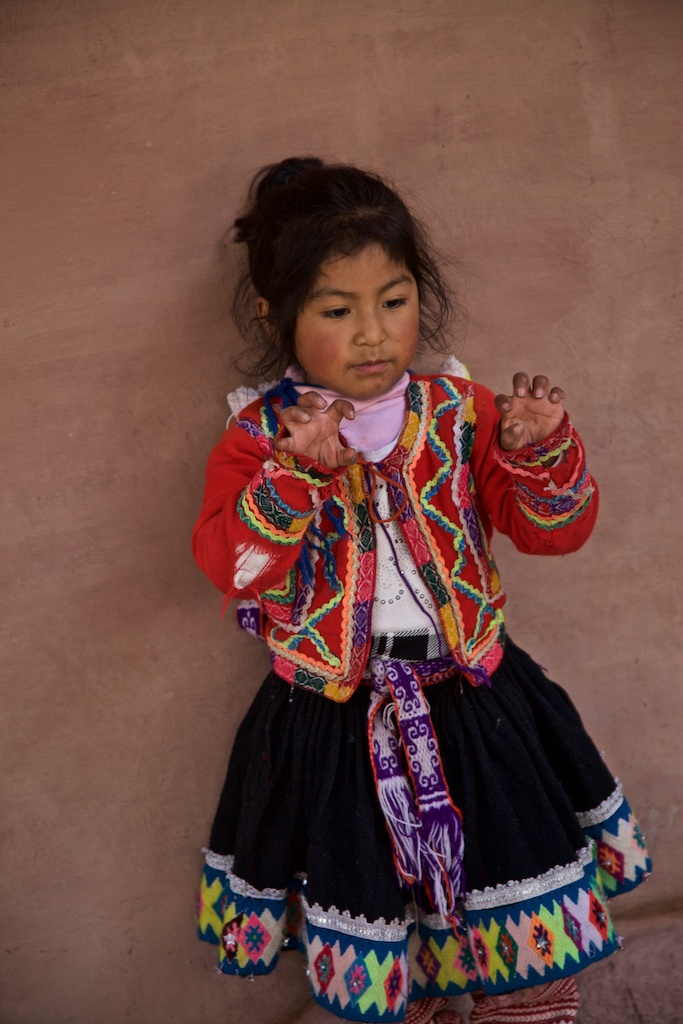 Peruvian girl with an imaginary grasp of the future