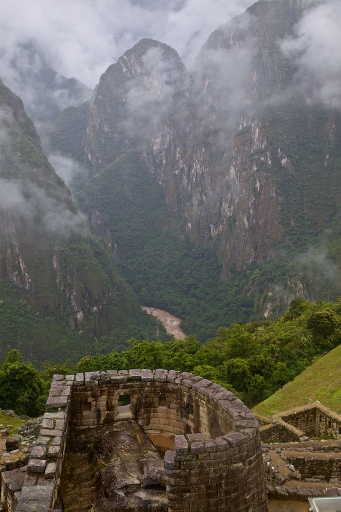 The Urubamba river as seen from the Machu Picchu fortress, Peru