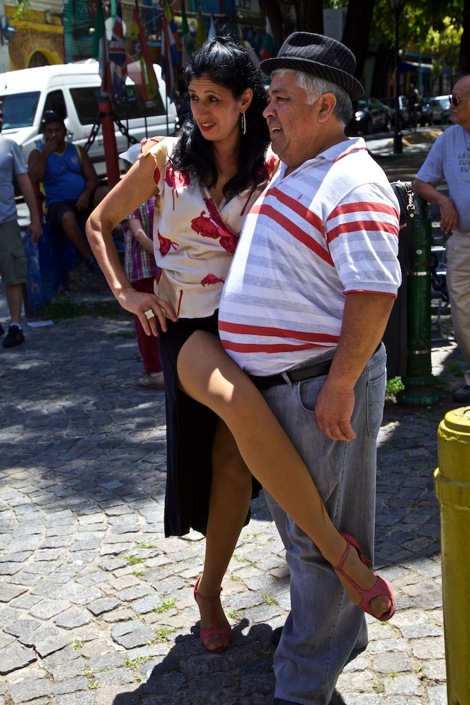 For someone who can stomach it: a leg up for a better photo op. La Boca, Argentina.